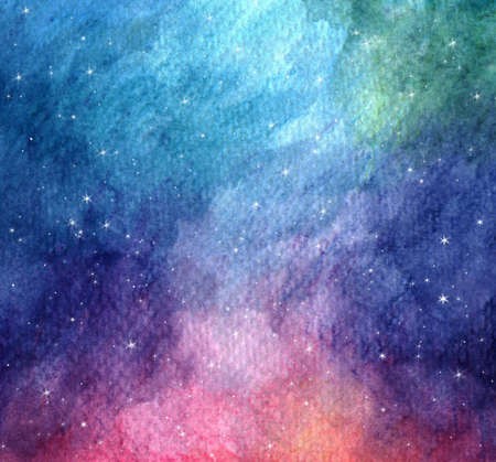 colorful starry space galaxy nebula background