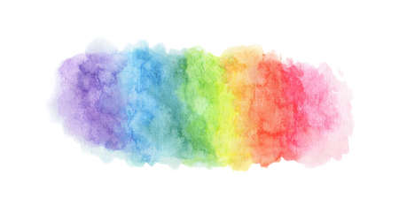 Colorful rainbow watercolor texture. Isolated on white background. Reklamní fotografie
