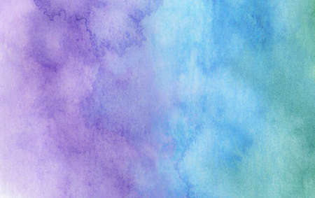 Purple and Blue watercolor background - abstract texture. Reklamní fotografie