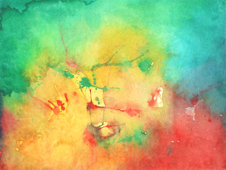 Bright Abstract watercolor drawing on a paper.