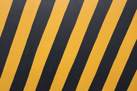 Warning signs, black and yellow bars - images Banco de Imagens