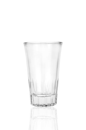 One empty glass isolated on white Stock Photo