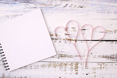 Paper hearts and notes for text input and other things that need to be designed and Valentines Day