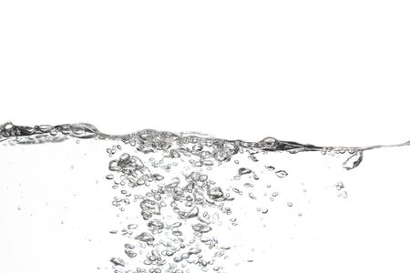 Splashing water surface with a white background