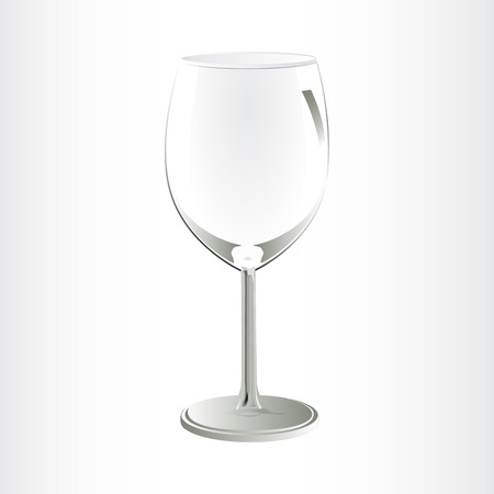 bocal: Empty wine glass isolated on a white background