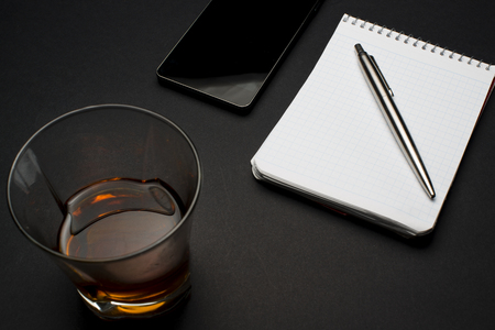 work environment: a work environment on a black table