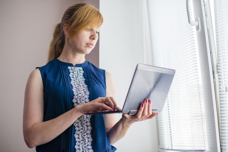 woman working with the 2 in 1 ultrabook