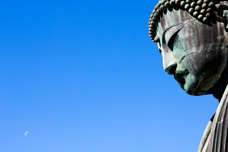 bid: The moon in daylight with bid buddha