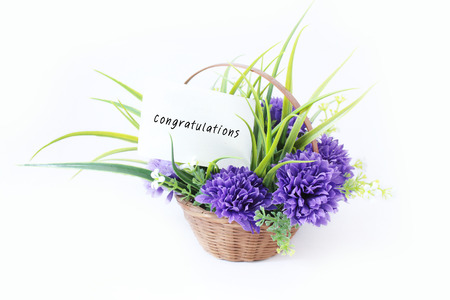 gad: Flower in basket with gad bless Studio Isolate so beautiful for a gift,greeting and congratulations