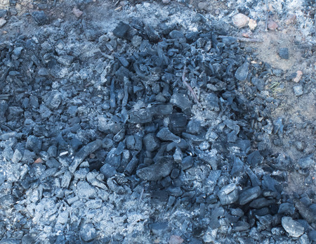 Charcoal burned in evening Stock Photo - 55218738