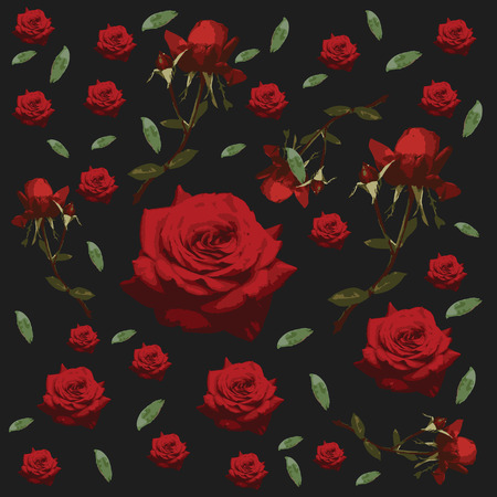 Seamless floral pattern - Roses - Flower