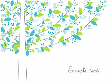 background with an abstract tree.