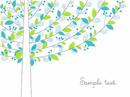 achtergrond met een abstracte boom.