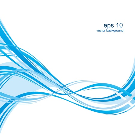 abstract lines: Abstract blue background with a wave.
