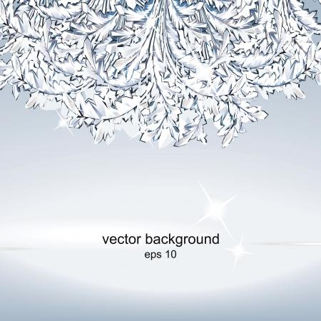 business christmas: Crystal ice background.  Illustration