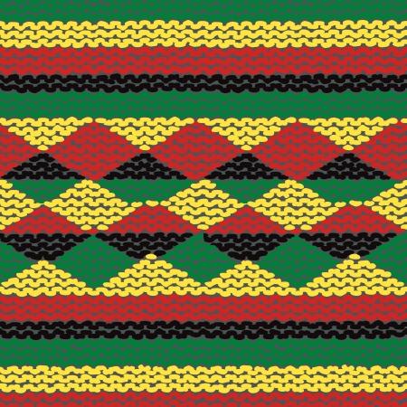 dreadlocks: Multicolor knitted seamless background.  Illustration