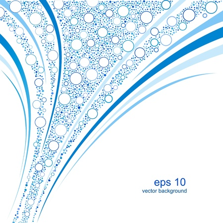 Water blue background.  Vector