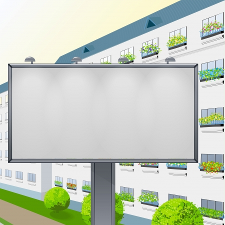 advertizing: Empty billboard against the city for your advertizing