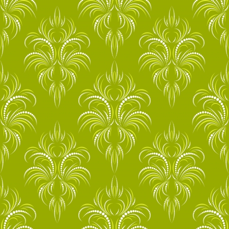 Green seamless wallpaper with points and grass