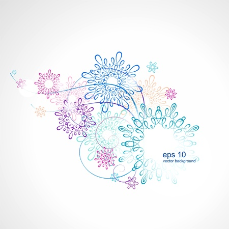Light lacy background Illustration