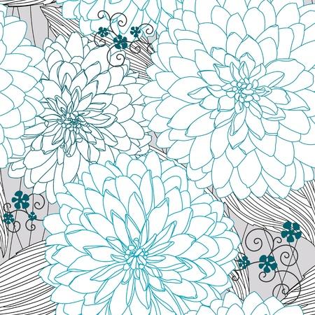 Naadloze textuur met blauwe bloemen