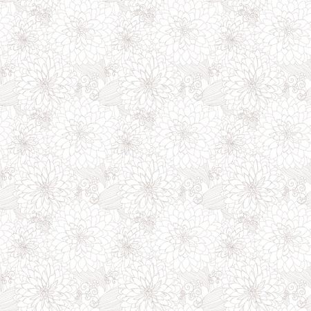 Seamless light texture with flowers