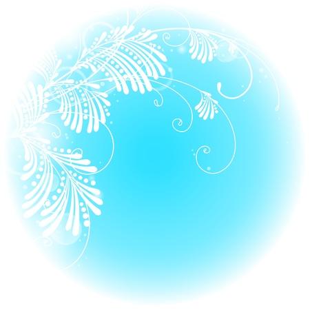 Mooie tak op een blauwe achtergrond Stock Illustratie