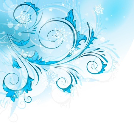 Light winter background with snowflakes