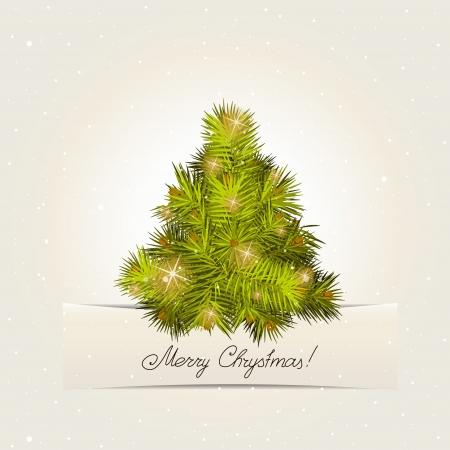 Kaart met een boom van het Nieuwjaar