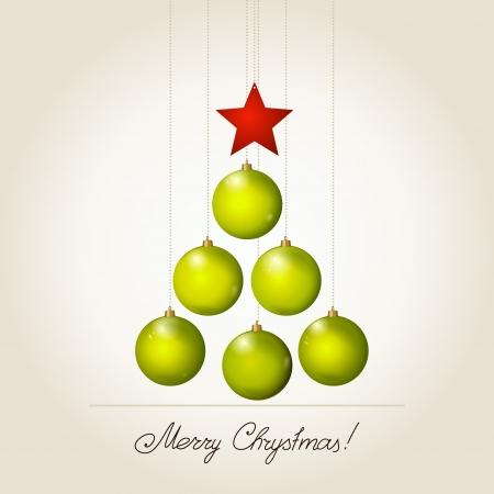Fir-tree from New Year's balls