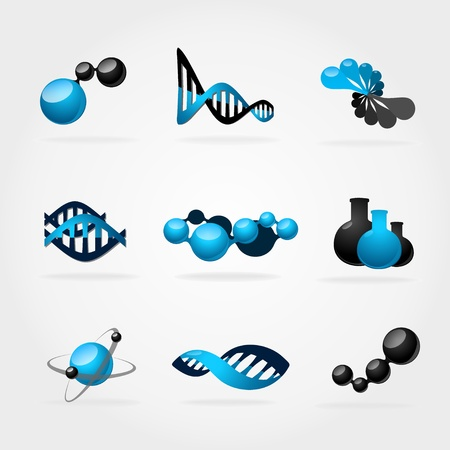 dna icon: Abstract science symbol.