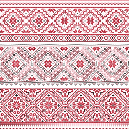Traditional Slavic embroidery.  Illustration