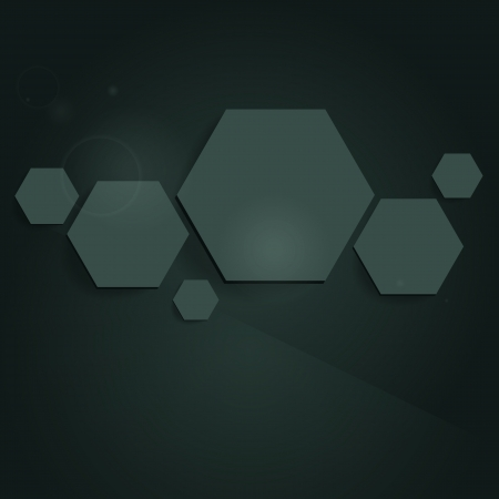 Abstract background with hexagons. Vector. Illustration