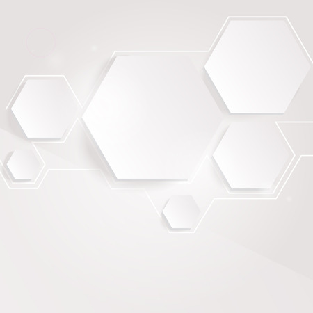 Light background with hexagons. Vector.