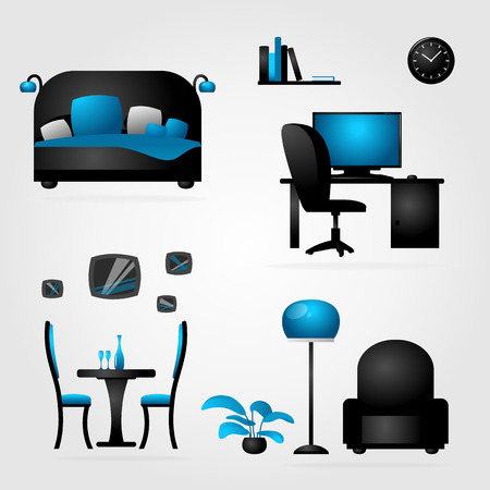 House furniture and office. Vector. Vector