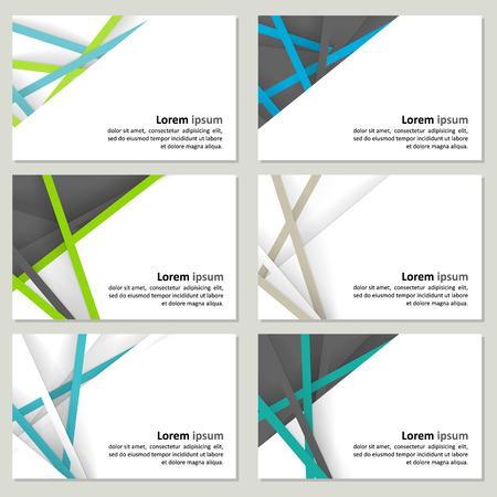 Set van visitekaartjes met een neutrale achtergrond - papier en schaduwen. Stock Illustratie