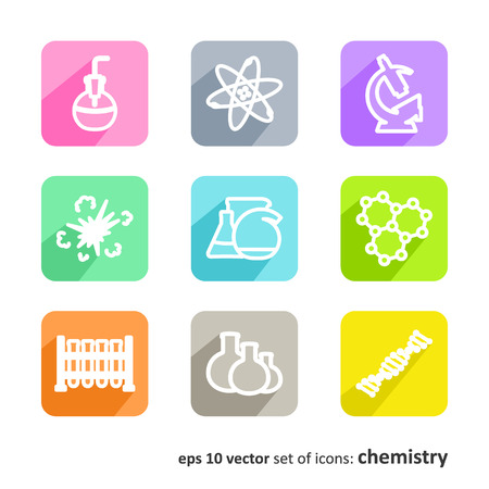 researches: Science Set of pictures - chemistry Illustration