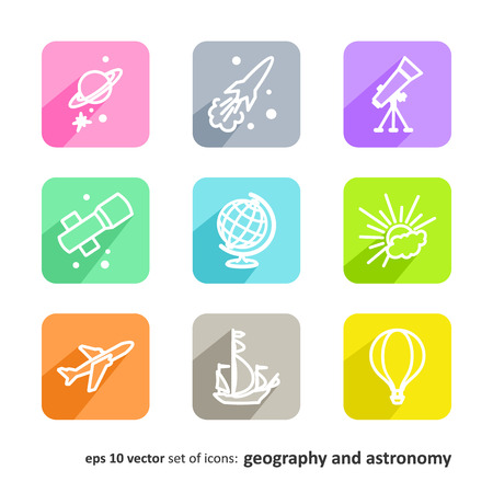 researches: Science Set of pictures - geography and astronomy