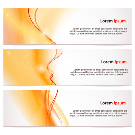 Banner with a light neutral abstract background. Vector.