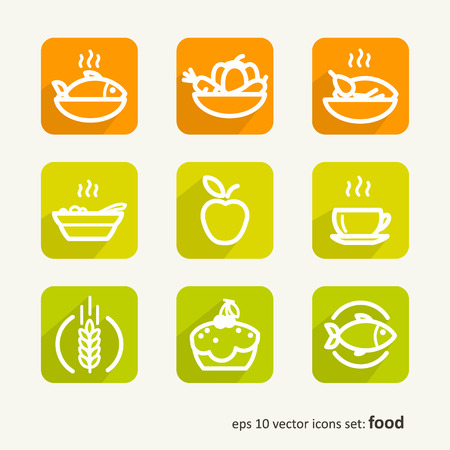 Food Set of abstract pictures Illustration