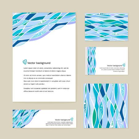 Bedrijfsidentiteit - het formulier, visitekaartjes, banner