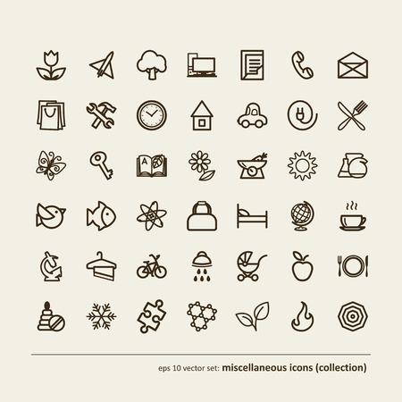 Set - miscellaneous icons (collection). A vector. Vector
