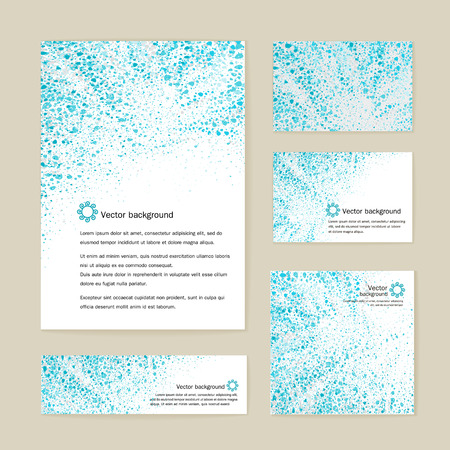 Corporate style - the form, business cards, banner, design elements. Vector.