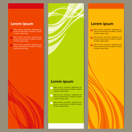 Banners with a neutral background. Vector.