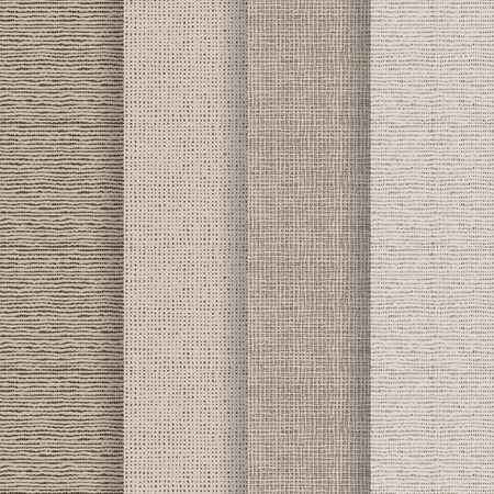 white matter: Set of 4 seamless textures - rough fabric. A vector.