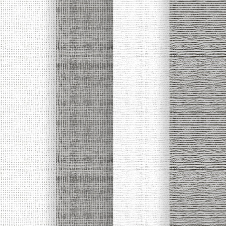 Set of 4 seamless textures - rough fabric. A vector.