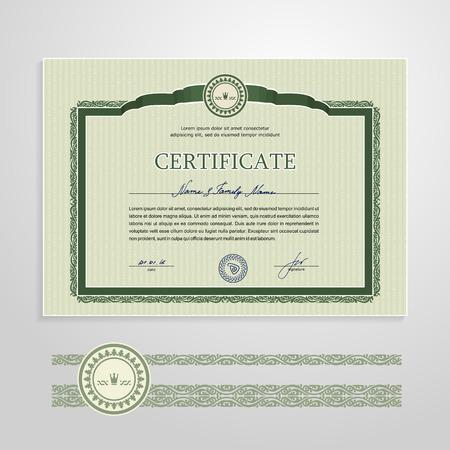 Certificate, Diploma, design template. A vector. Banco de Imagens - 41321578