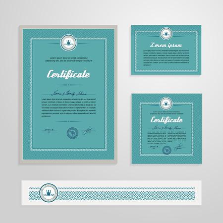 Certificate, Diploma, design template. A vector.