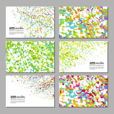 neutral background: Set of business cards with a bright neutral background. Vector. Illustration
