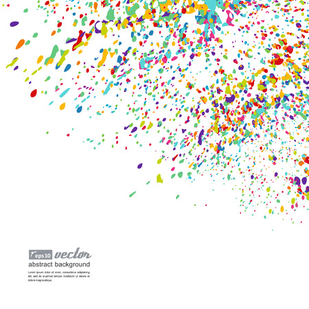 pastel color: Abstract background - bright spots of paint. A vector.